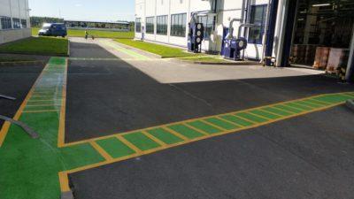 Пешеходные зоны на производственной территории